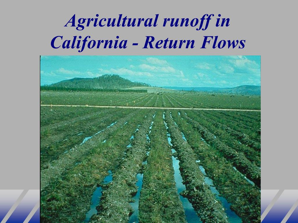 Agricultural runoff in California - Return Flows