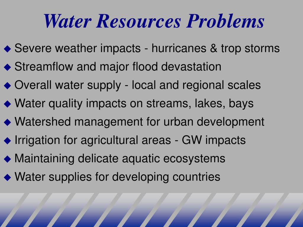 Water Resources Problems