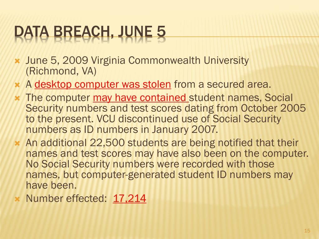 June 5, 2009 Virginia Commonwealth University