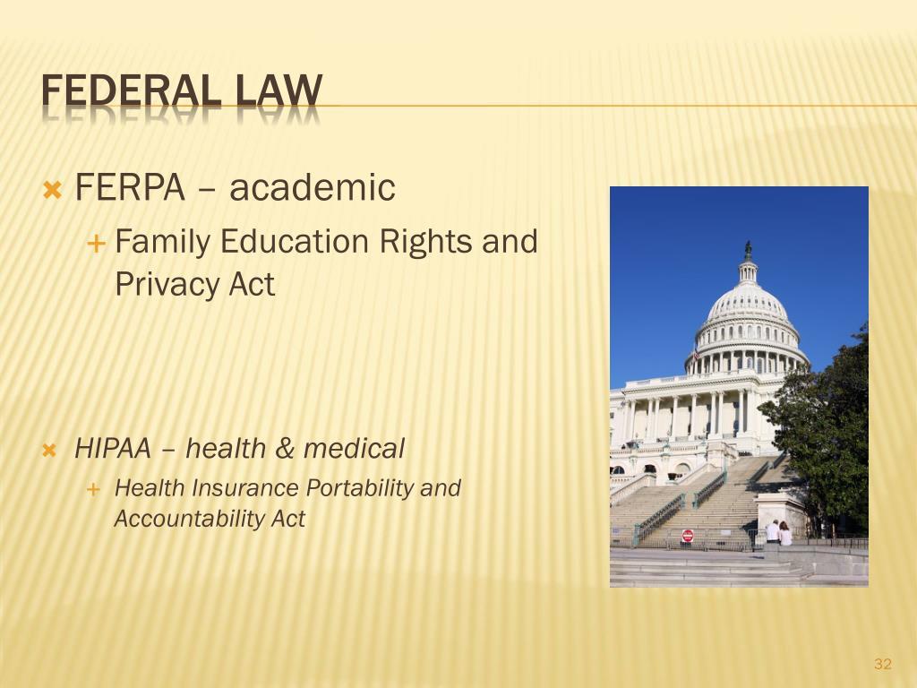 FERPA – academic
