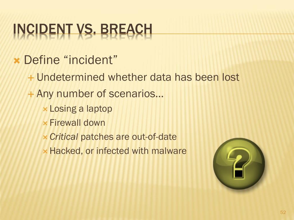 "Define ""incident"""