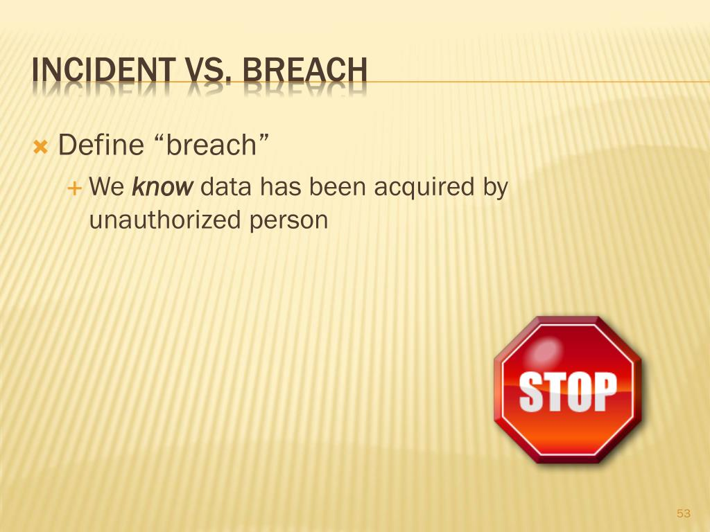 "Define ""breach"""