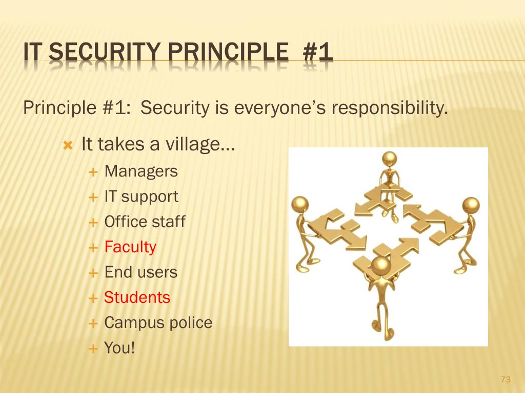 IT Security principle  #1
