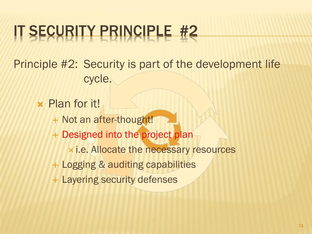 IT Security principle  #2