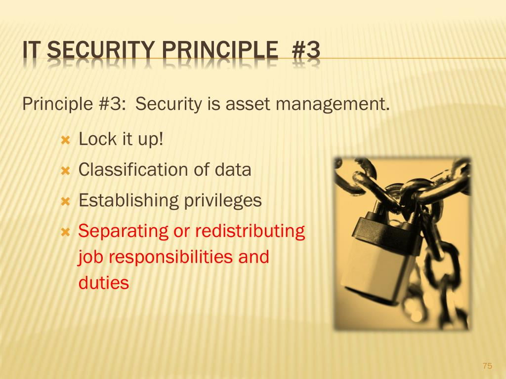 IT Security principle  #3