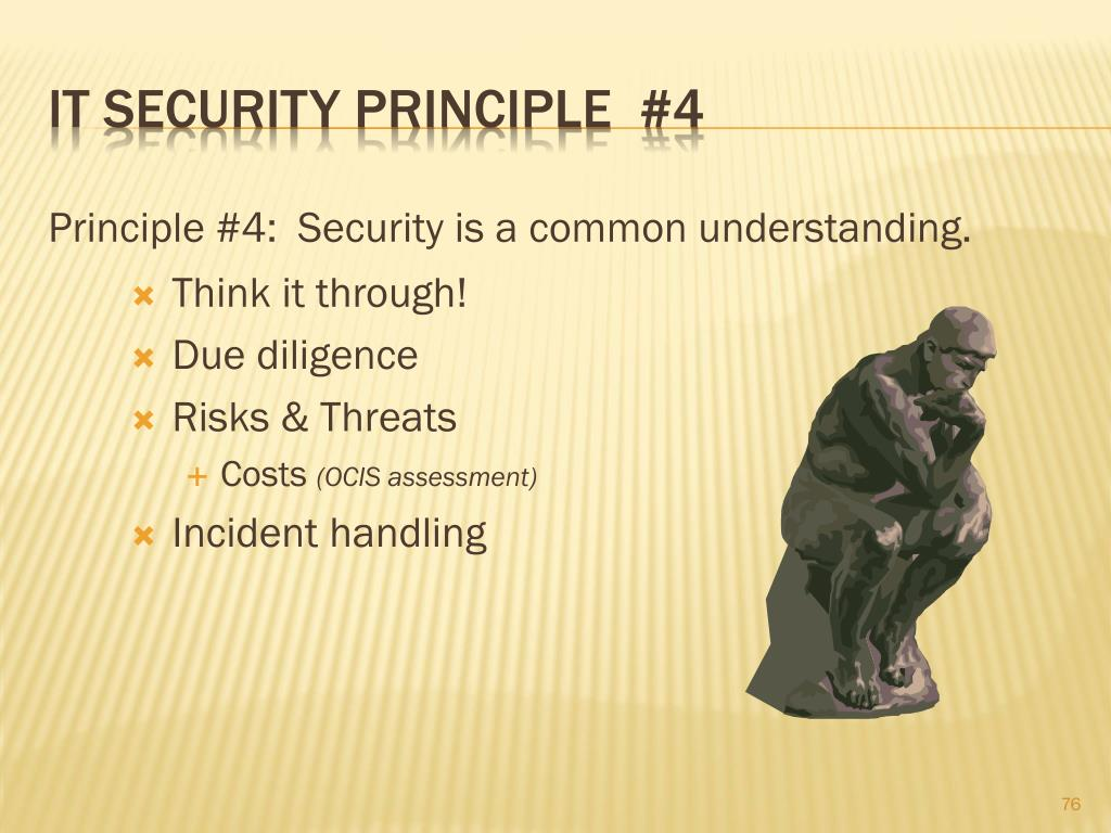 IT Security principle  #4