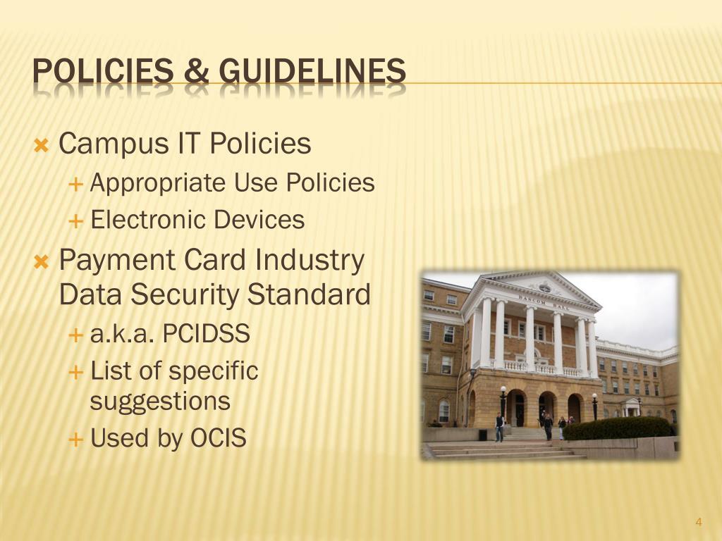 Campus IT Policies