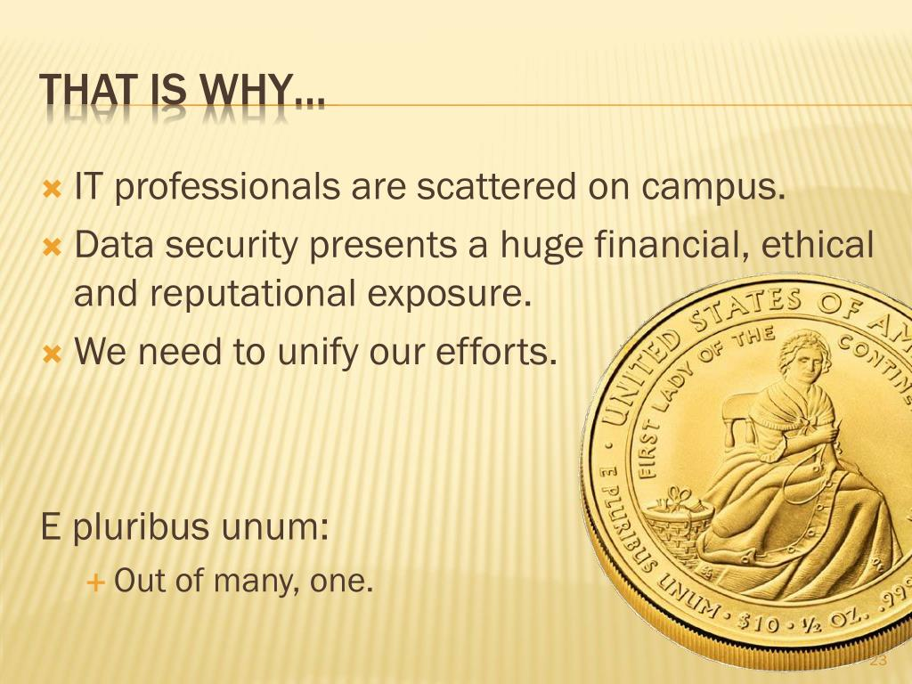 IT professionals are scattered on campus.