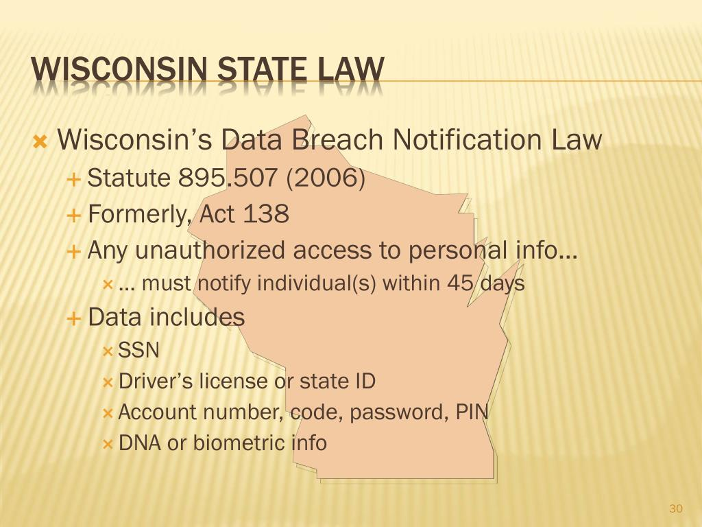 Wisconsin's Data Breach Notification Law