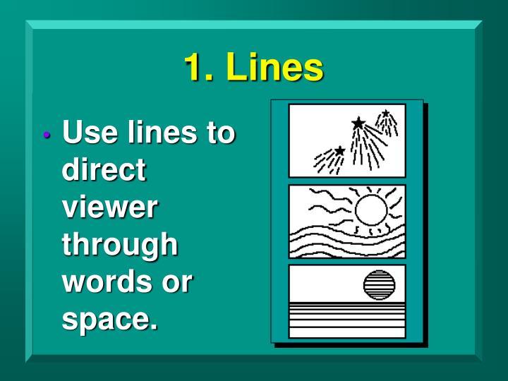 1. Lines