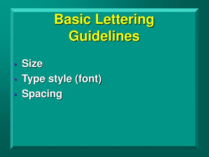Basic Lettering Guidelines