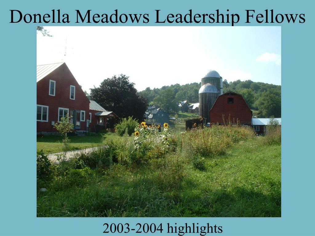 Donella Meadows Leadership Fellows
