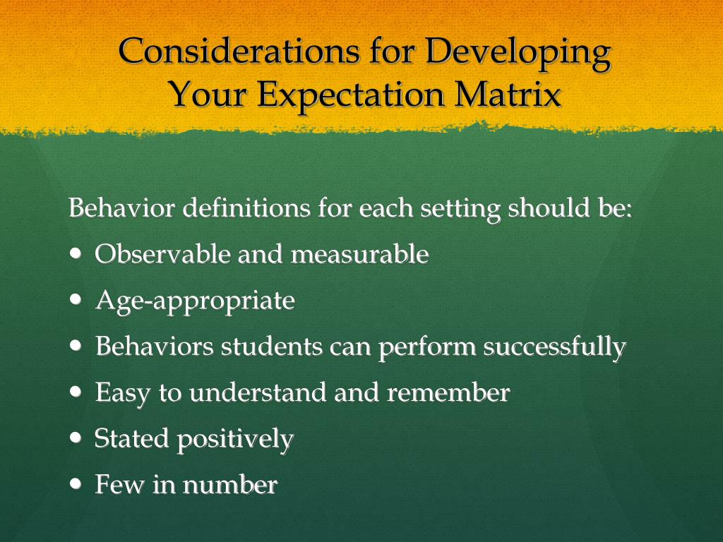 Considerations for Developing
