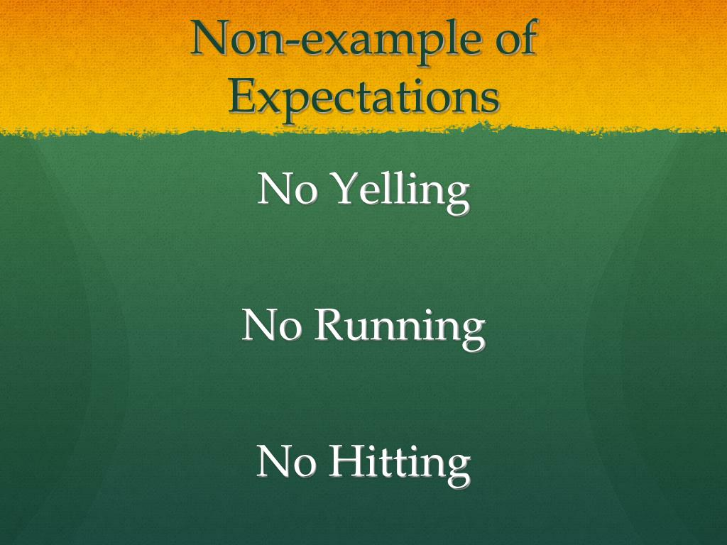 Non-example of Expectations