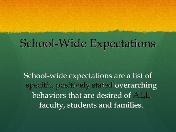 School wide expectations