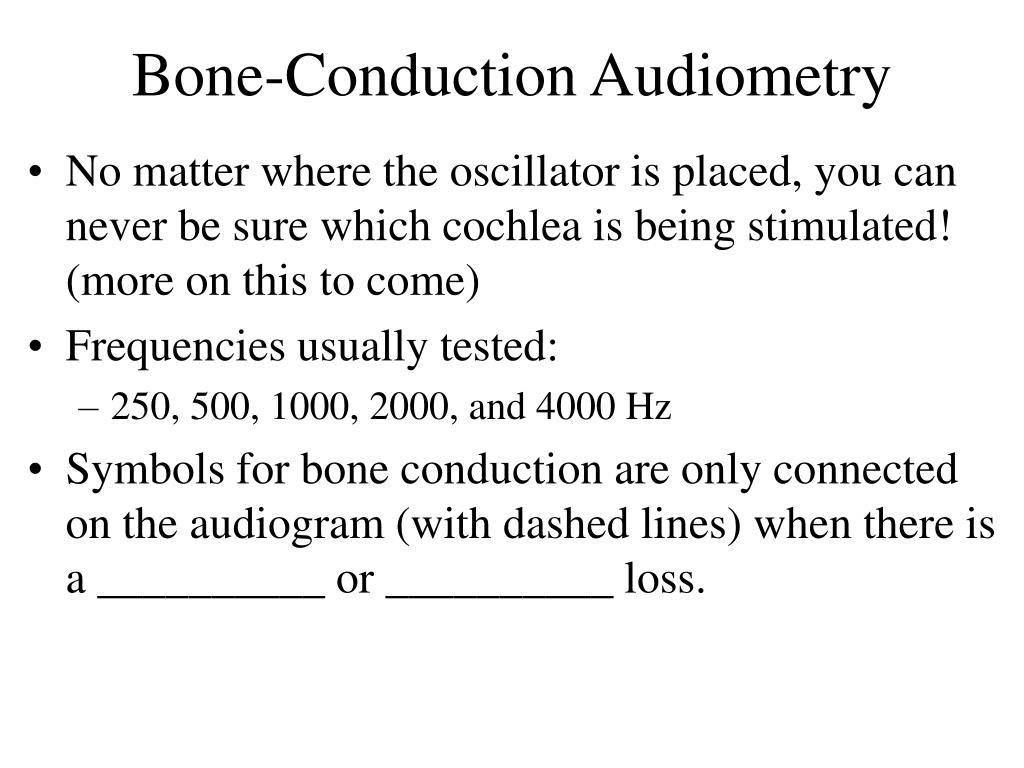 Bone-Conduction Audiometry