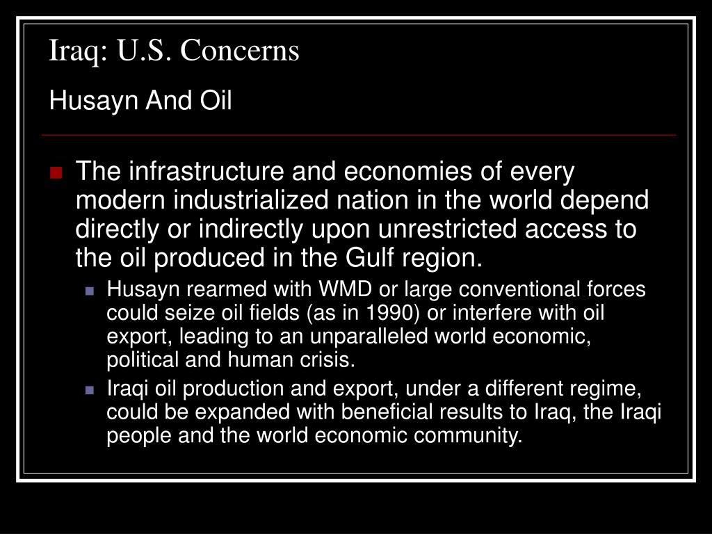 Iraq: U.S. Concerns