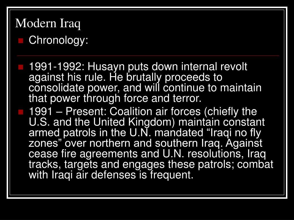 Modern Iraq