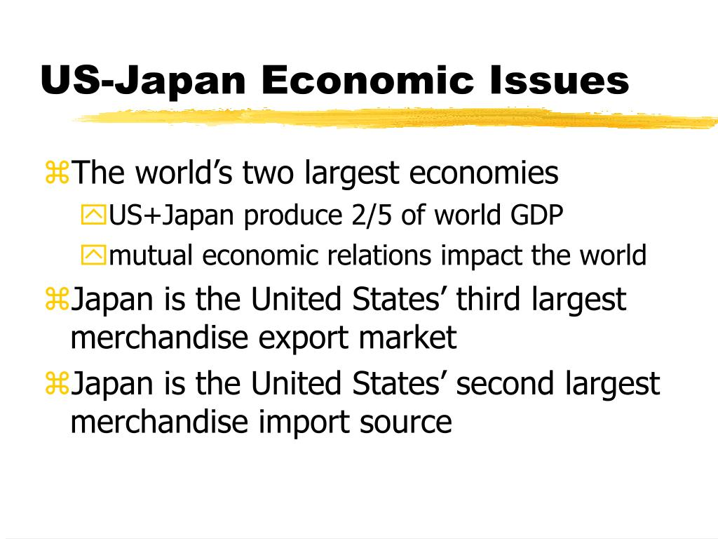 US-Japan Economic Issues