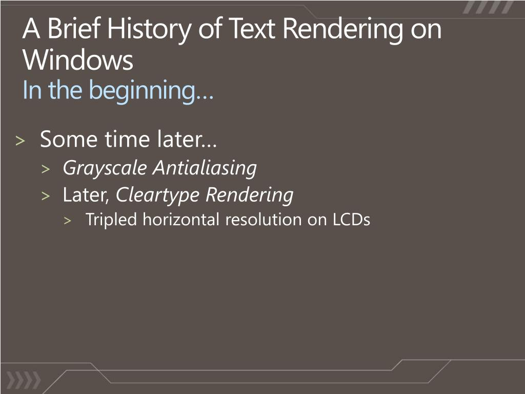 A Brief History of Text Rendering on Windows