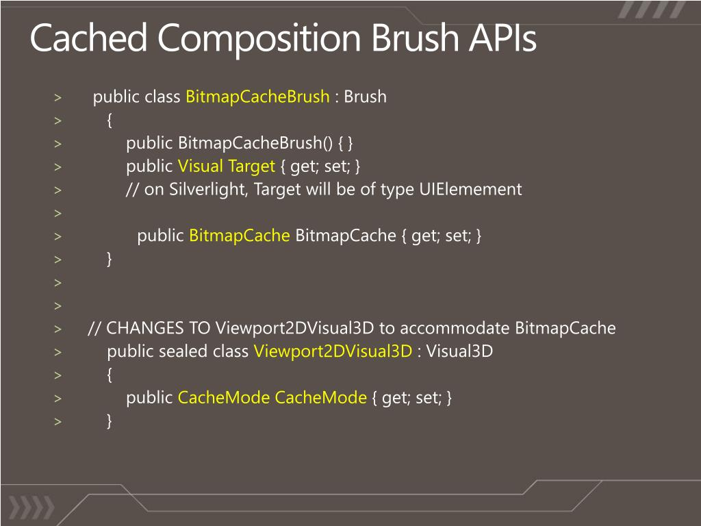 Cached Composition Brush APIs