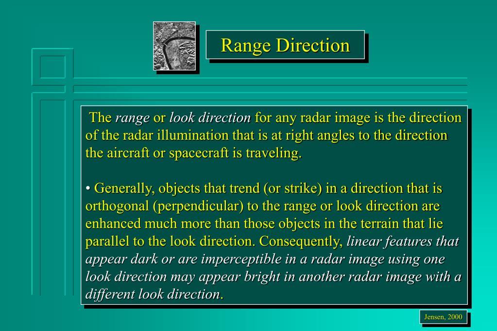 Range Direction