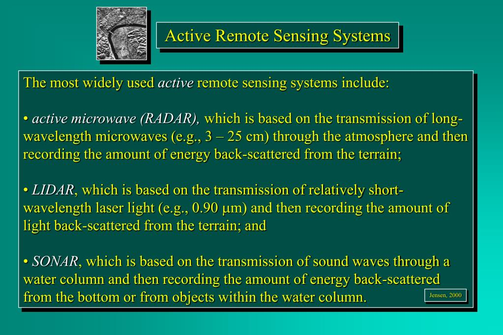 Active Remote Sensing Systems