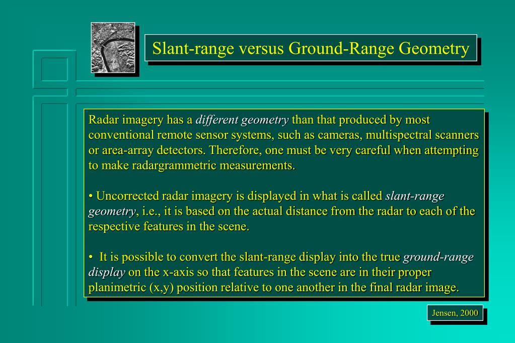 Slant-range versus Ground-Range Geometry