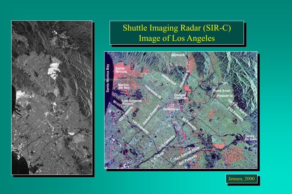 Shuttle Imaging Radar (SIR-C) Image of Los Angeles