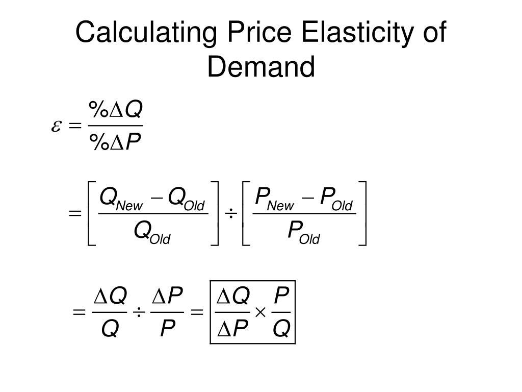 peice elasticity of demand pdf