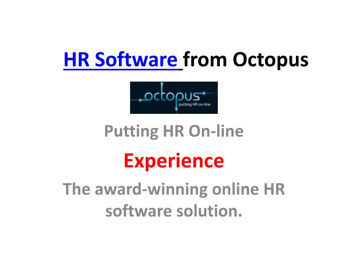 Hr software from octopus