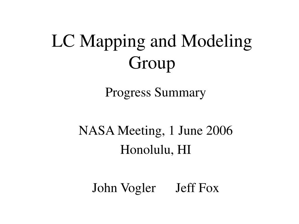 LC Mapping and Modeling Group