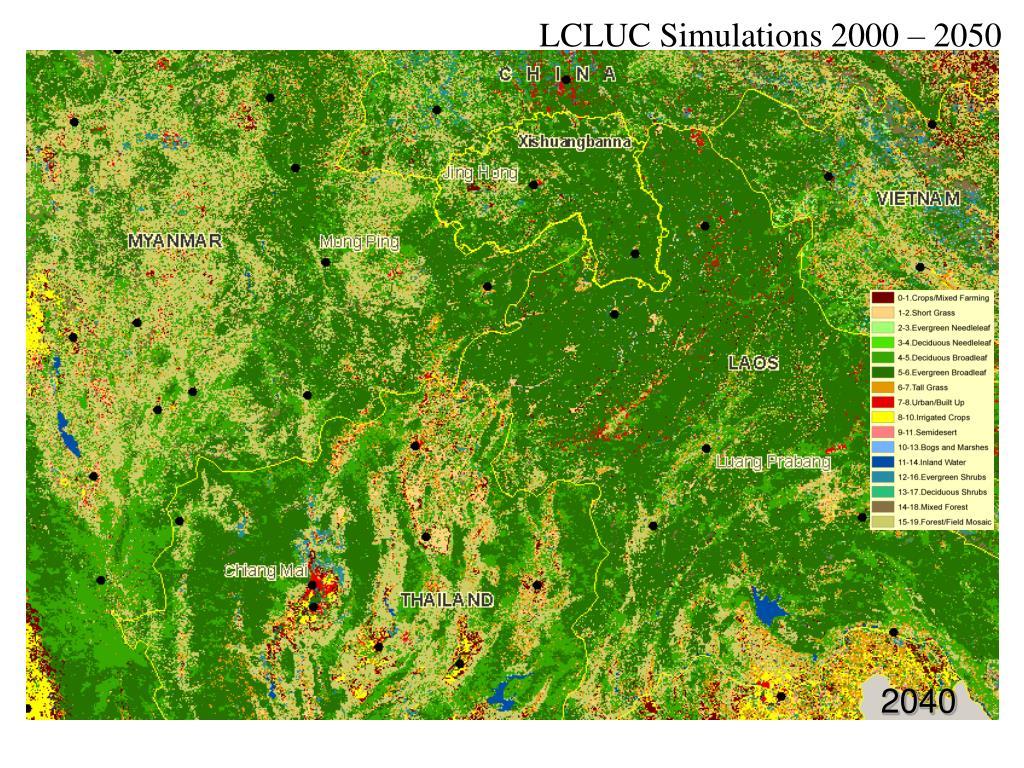 LCLUC Simulations 2000 – 2050