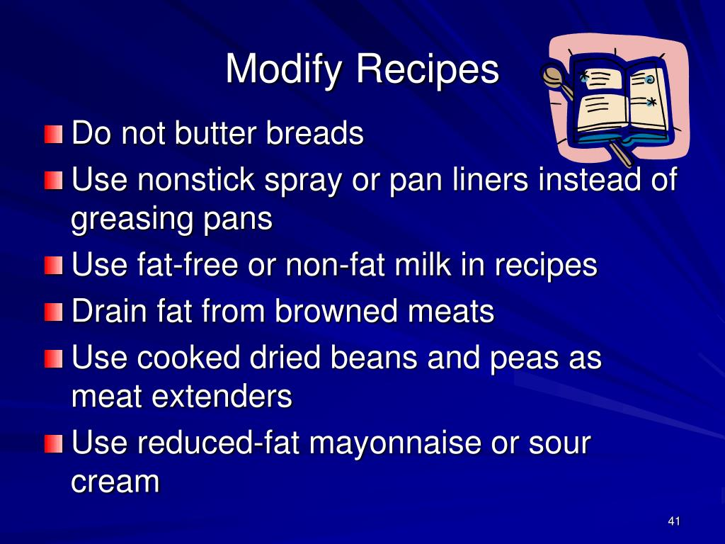 Modify Recipes