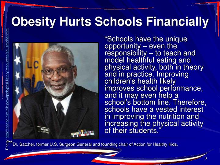 Obesity hurts schools financially