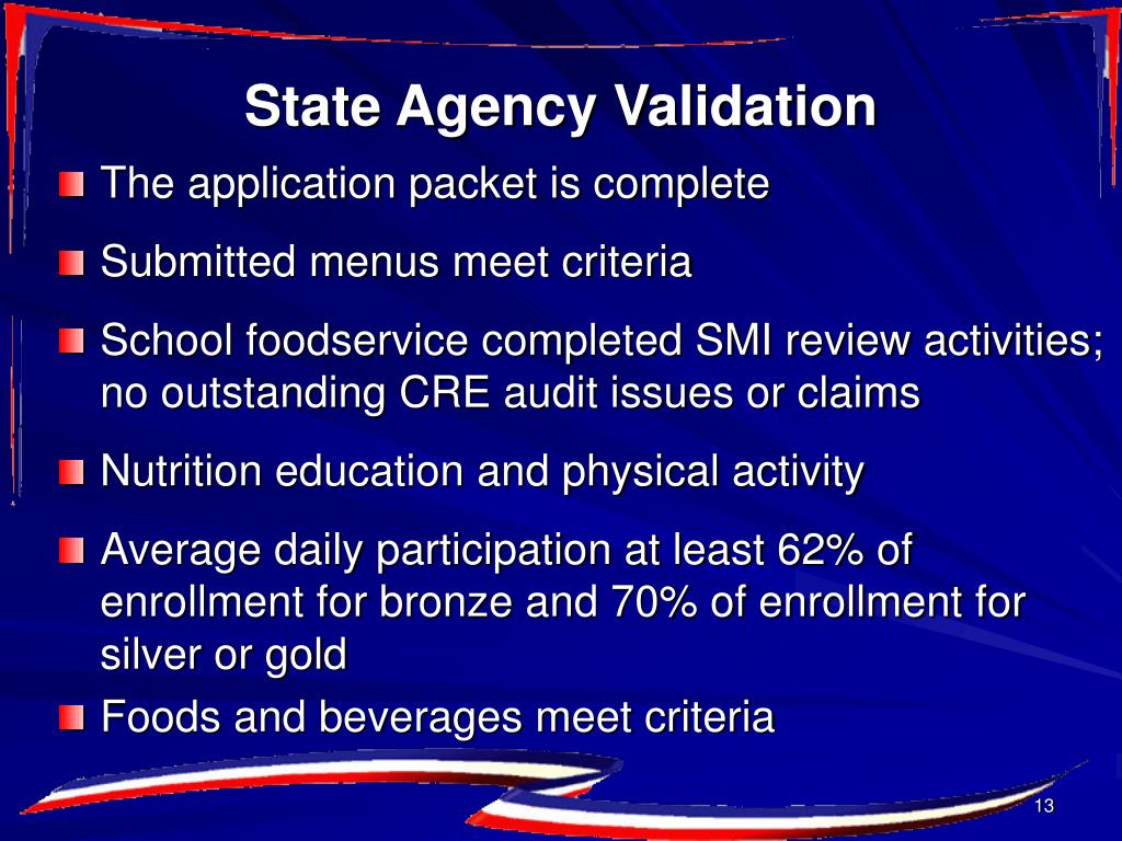 State Agency Validation
