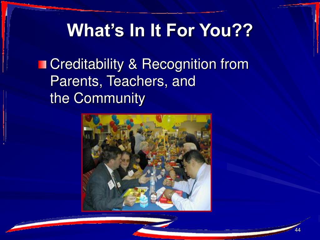 Creditability & Recognition from Parents, Teachers, and