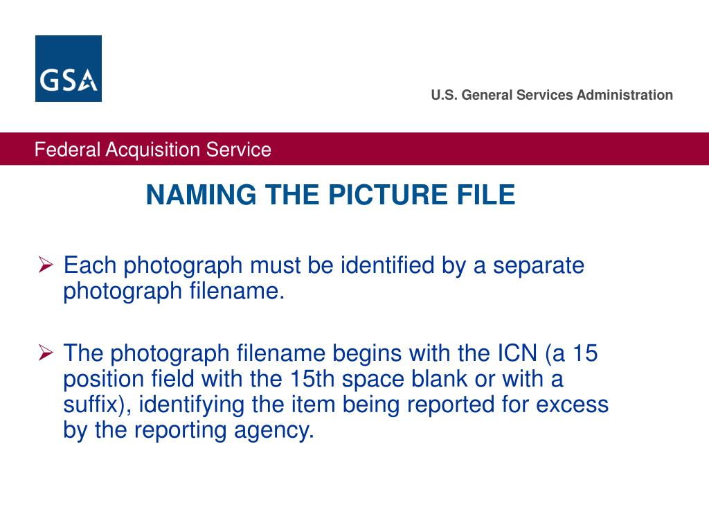 NAMING THE PICTURE FILE