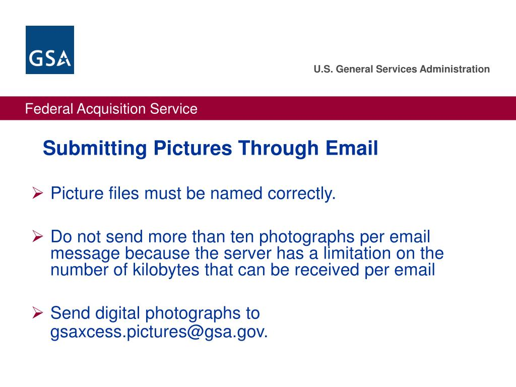 Submitting Pictures Through Email