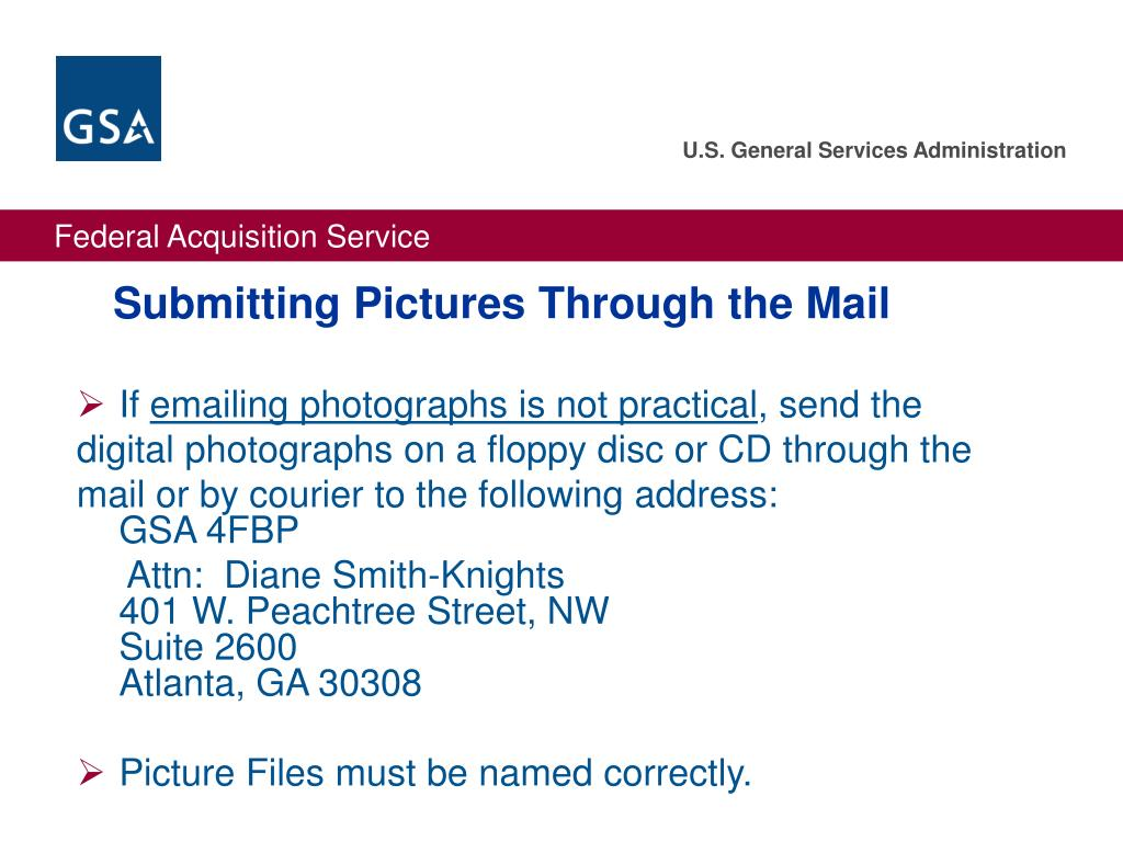 Submitting Pictures Through the Mail