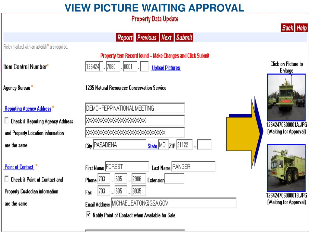 VIEW PICTURE WAITING APPROVAL