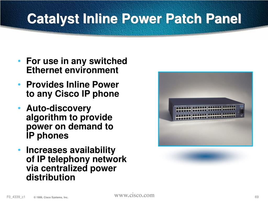 Catalyst Inline Power Patch Panel