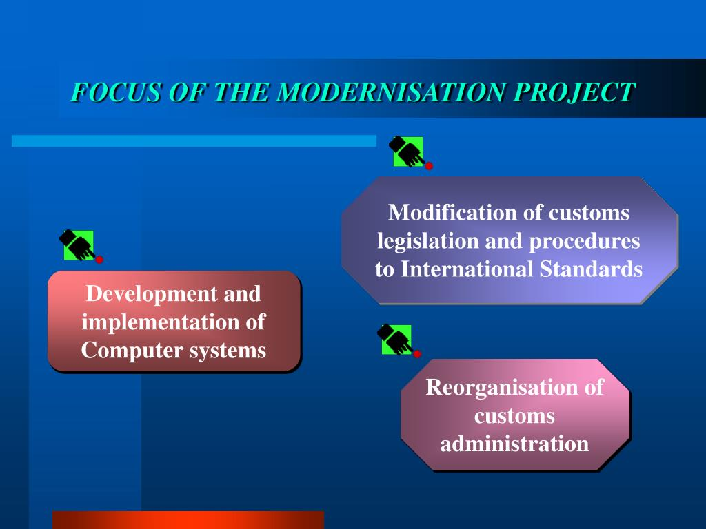 FOCUS OF THE MODERNISATION PROJECT