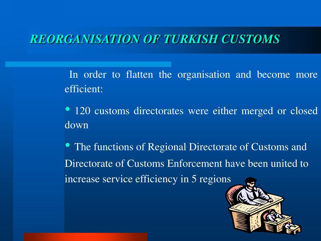 REORGANISATION OF TURKISH CUSTOMS