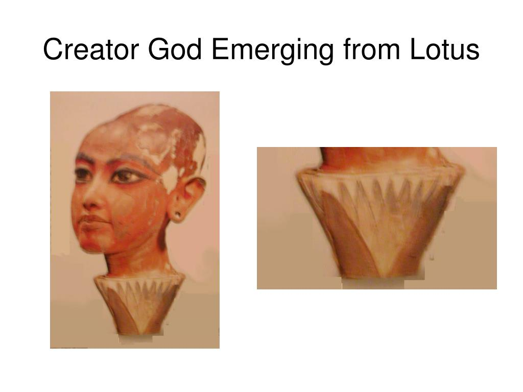 Creator God Emerging from Lotus