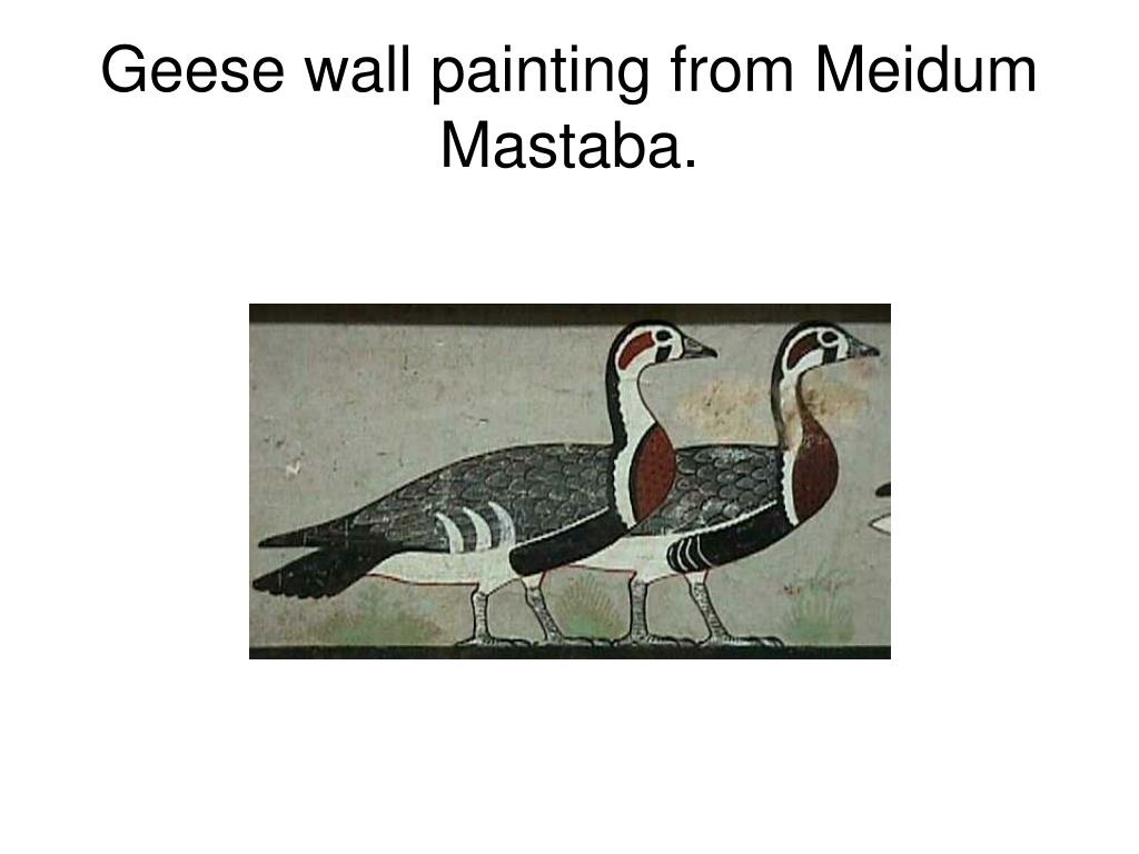 Geese wall painting from Meidum Mastaba.