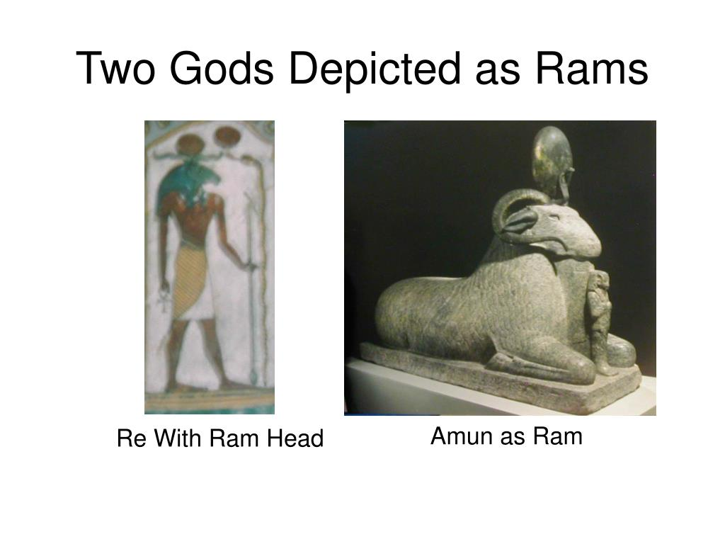 Two Gods Depicted as Rams