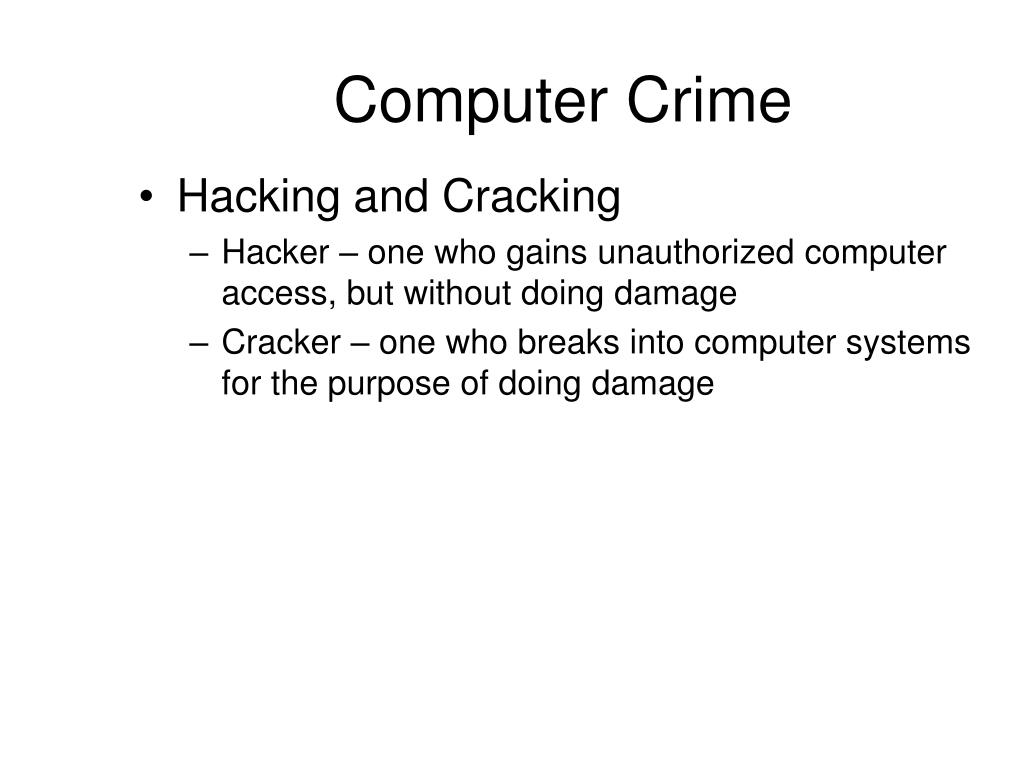 a description of the crimes and legal charges in hacking phreaking and software piracy Types of economic crime and statutory law  hackers are able to  disrupt e-commerce by engaging in denial of service attacks and by  a series  of credit card frauds, if those crimes were charged under 18 usc § 1341   against large-scale computer software privacy, and in 1997 congress enacted  the no.