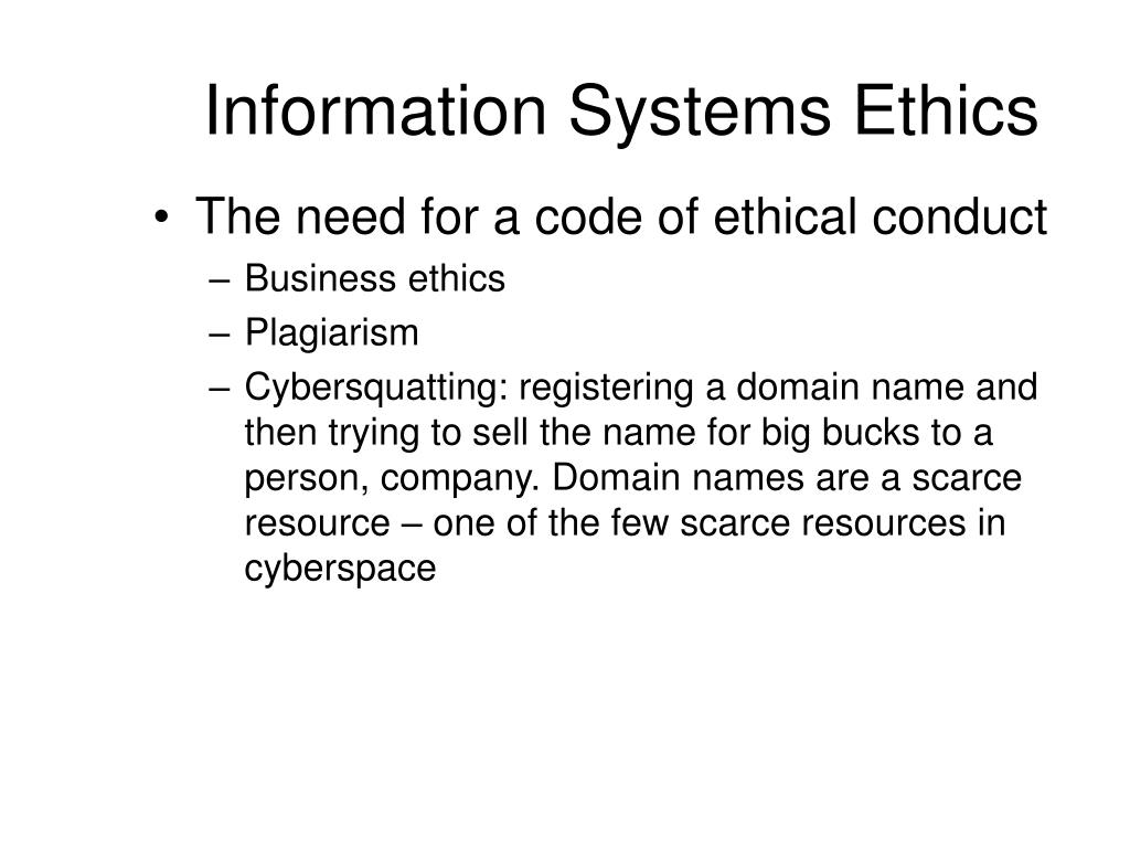 computer ethics and information systems Social and ethical issues in computer science 2 the relevance of ethics to computer need to consider risk of computer system.