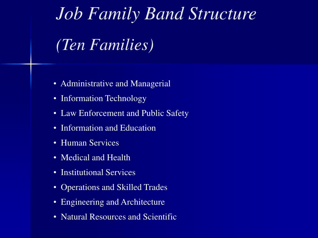 Job Family Band Structure